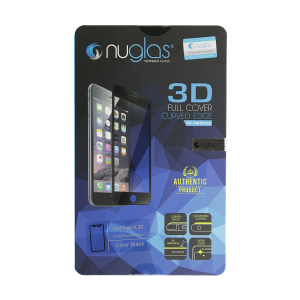 NuGlas Tempered Glass Screen Protector for iPhone X (3D) - Black