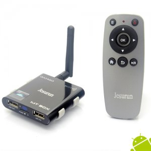 Jesurun MT-05 Android TV Box A31S Quad Core 2GB 8GB Android 9.1 Remote Control TF Card- Black