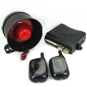433 ~ 434 MHz Frequency Two-way LCD Vehicle Security Alarm System