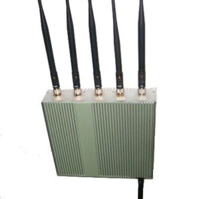6 Antenna Cell Phone GPS WiFi Jammer +Remote Control