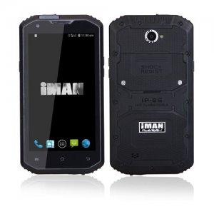 iMAN i8800 Smartphone 5.5 Inch HD Screen IP68 MSM8916 Quad Core 1GB 8GB - Black