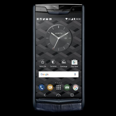 Vertu Signature Touch Pure Navy Alligator Clone Android 9.1 Snapdragon 821 4G LTE luxury Phone