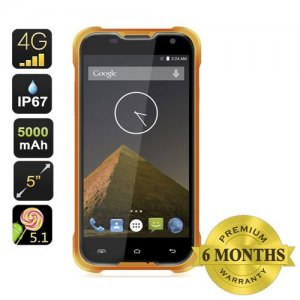 Blackview BV5000 Smartphone - IP67, 4G, MTK6735P Quad Core CPU, 5 Inch HD Screen, 5000mAh Battery, Android 9.1 (Orange)