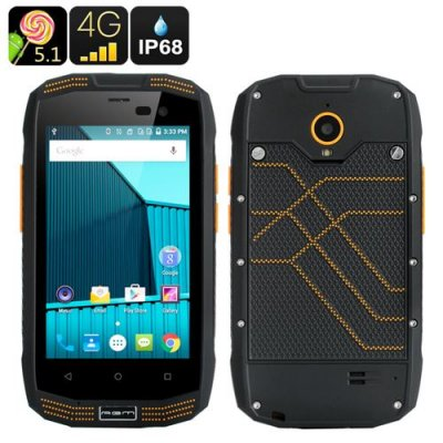 AGM A2 Rugged Smartphone - 4 Inch Screen, IP68, Android 9.1, 4G, Bluetooth 4.0, 2GB RAM + 16GB Memory