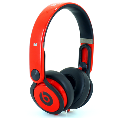 Beats By Dr Dre Mixr Over-Ear Red/Black DJ Headphones Inspired by David Guetta