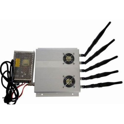 5 Antenna 25W High Power 3G Cell phone & WiFi Jammer with Outer Detachable Power Supply