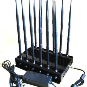 12-band Jammer GSM DCS Rebolabile 3G 4G WIFI GPS Satellite Phones and car remotes 315-433-868 Mhz