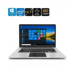 Jumper EZbook 3 Windows 10 Laptop - Apollo Lake CPU 14.1-Inch Full-HD Display HDMI Out 10000mAh 4GB DDR3L RAM 64GB Storage