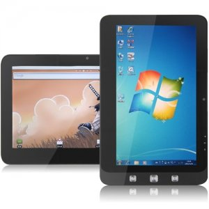 10 Inch Dual OS Tablet PC window 10 + Android 9.1 16G SSD 1GB N455 Black