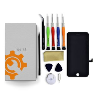 iPhone 8 Plus Screen Replacement Repair Kit + Small Parts + Tools + Repair Guide - Black