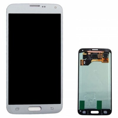 LCD Screen Digitizer Assembly Replacement for Samsung Galaxy S5 - WHITE