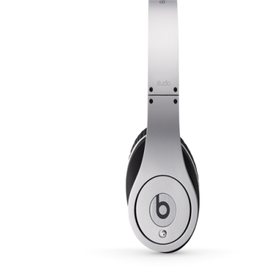 Beats By Dr Dre Studio Over-Ear Silver Headphones