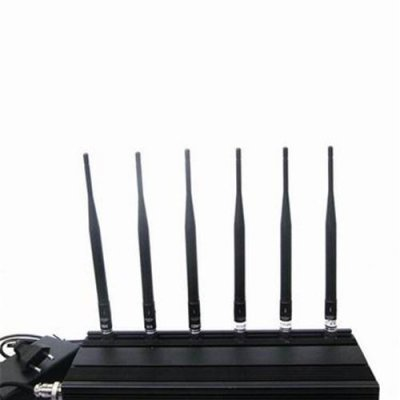 6 Antenna Cell phone,WiFi & RF Jammer (315MHz/433MHz)