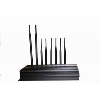 PC Controlled 8 Antenna 3G 4G Cellphone Signal Jammer & WiFi Jammer