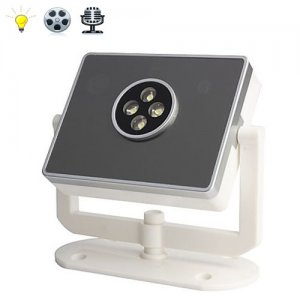 HD 1280X720 Security LED Light Security Camera with Night Vision (Fashionable Table Lamp Design)