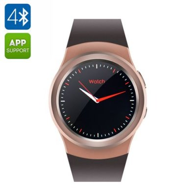 No.1 G3 Smart Watch - Heart Rate Monitor, MTK2502 CPU, Customizable Watch Faces, Android and iOS Apps (Gold)