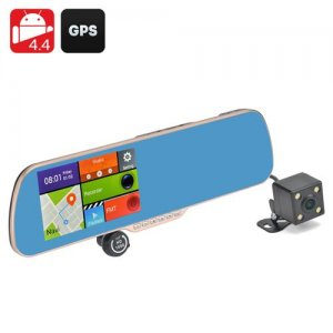 "Android 9.1 DVR + Parking Camera ""Gold Vision II""- 5 Inch Touch Screen Display, GPS Navigation, 720P Resolution"