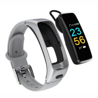 J16 Bluetooth Earphone Wristband Smart Heart Rate Bracelet Calls Receive-Reject - GRAY