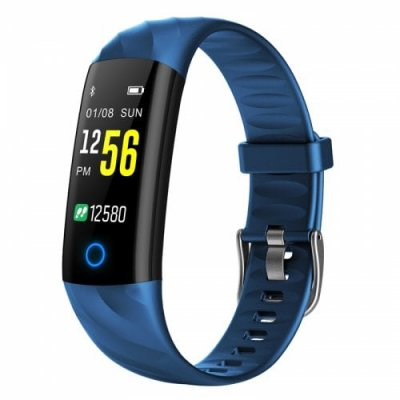 TFT color screen IP68 waterproof heart rate monitoring sports bluetooth bracelet - OCEAN BLUE