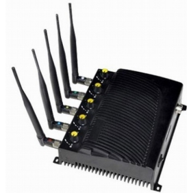 Adjustable Desktop Five Bands Signal Jammer for Cell Phone, GPS, Wifi