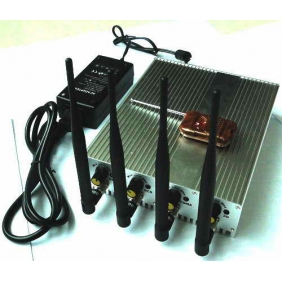 Adjustable Cell Phone 3G and GPS Signal Jammer with Four Bands and Remote Control