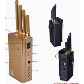 Handheld GPS and Phone Jammer with Four Bands and Single-Band Control - For Worldwide all Networks