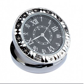 Roman numerals Circular Alarm Clock Design Mini Camera with Webcam