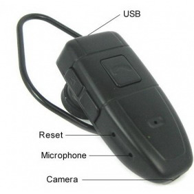 Earphone Shaped Design Style Small Hidden Camera Digital Video Recorder - 4GB
