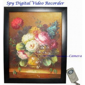 720x480 Paint Style Hidden Digital Camera Recorder with Remote Control 4G Memory
