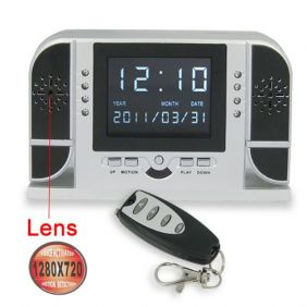 Night Vision Motion Detecting Digital Clock with HD Hidden Camera