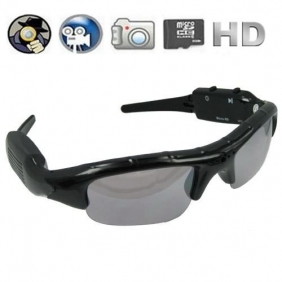 5.0MP Hidden Camera Sunglasses Eyewear DVR 1280 x 720P Support TF Card Slot + 4GB Memory