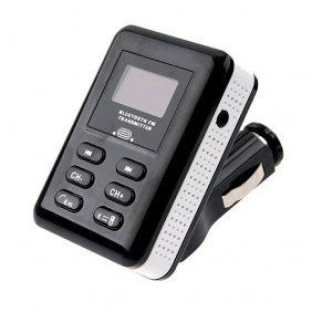 BCA09 Car FM Transmitter with Bluetooth Function,Black+White Color